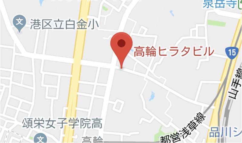 Joli(ジョリ)高輪店マップ